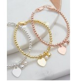 KAYA sieraden Zilveren armbanden set 'Cute Balls' met gravering