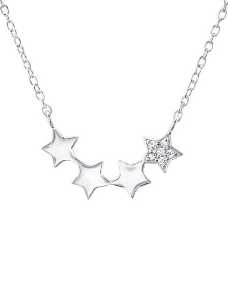 KAYA sieraden Gepersonaliseerd zilveren kettinkje 'stars'