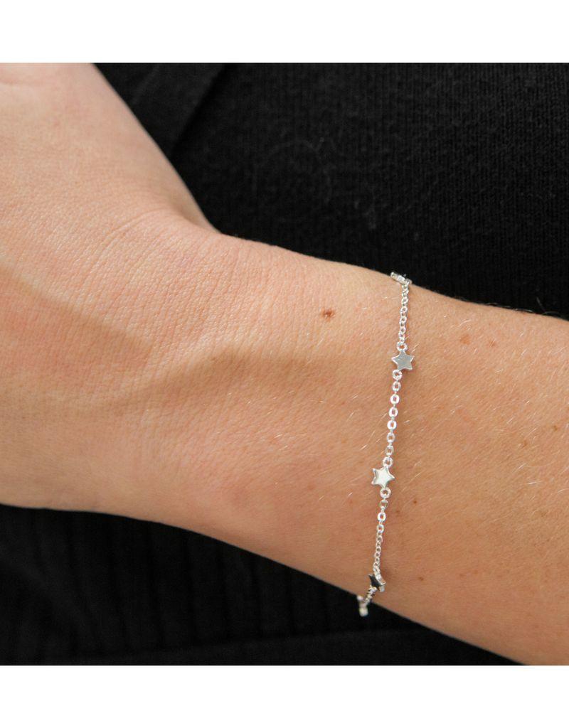 Zilveren damesarmband 'Twinkle Star'