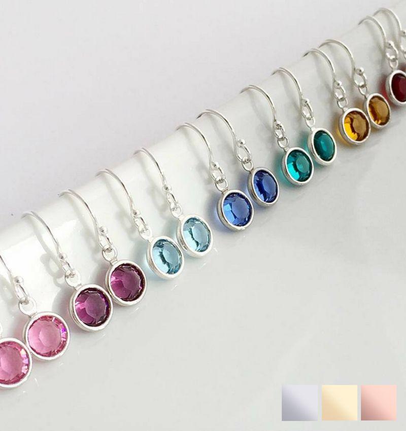 KAYA sieraden SWAROVSKI® Geboortekristal oorbellen (zilver)
