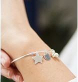 KAYA sieraden Zilveren bangle armband met bedels 'Stel zelf samen'