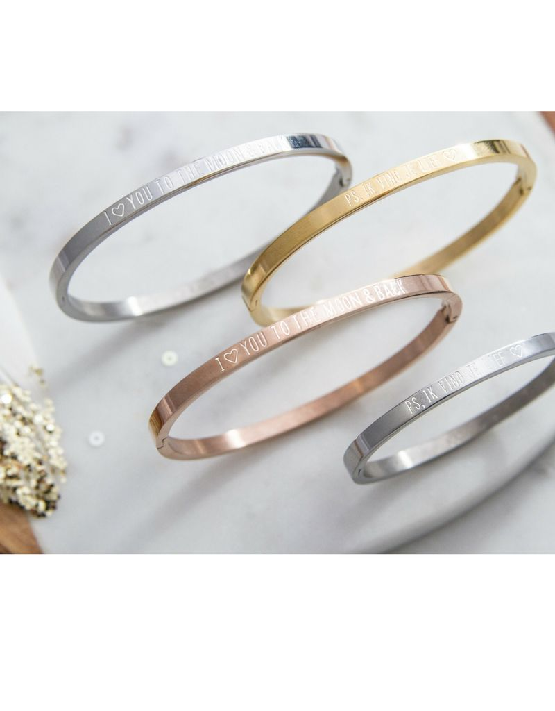 Bangle SET 'I' you to the moon & back '(2 pieces)