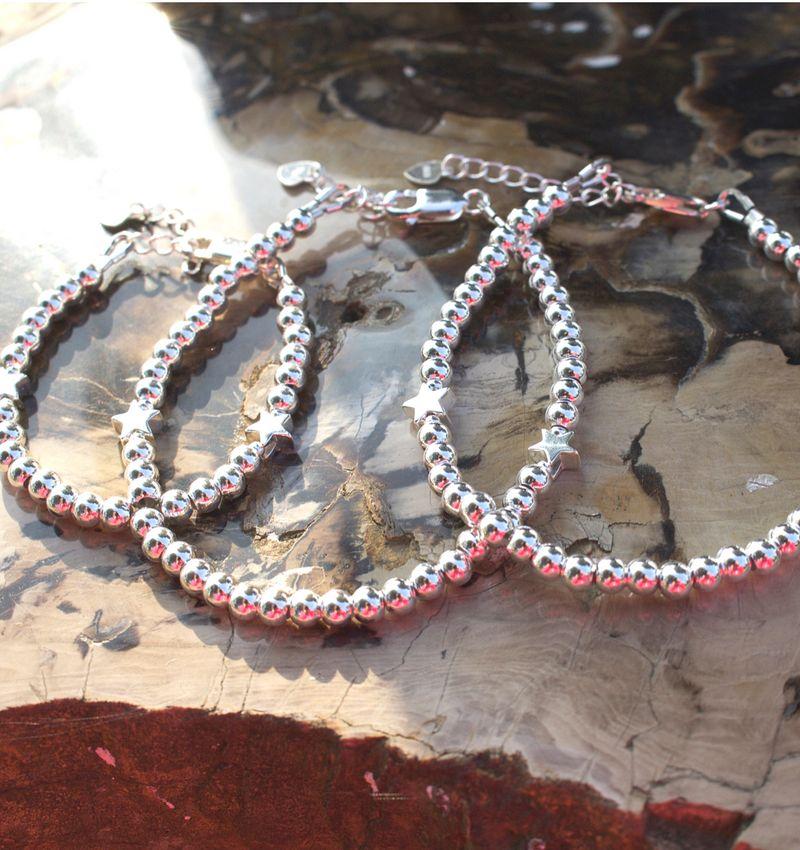 KAYA sieraden Three generation bracelets set 'cute balls' - with 2 stars