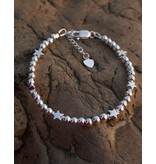 Zilveren armband 'Cute Balls' - sterren