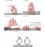 KAYA sieraden Gepersonaliseerde dubbele ring '2 kids'