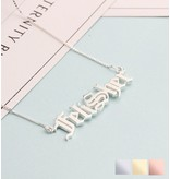 KAYA sieraden Name Necklace 'Claudia' in the name of your choice - Copy