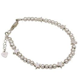 Zilveren armband 6 sterren
