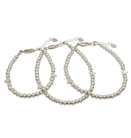Three generation bracelets set 'cute balls' - with 2 stars - Copy