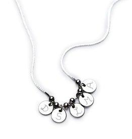 KAYA sieraden Personalized silver necklace 'dice' - Copy