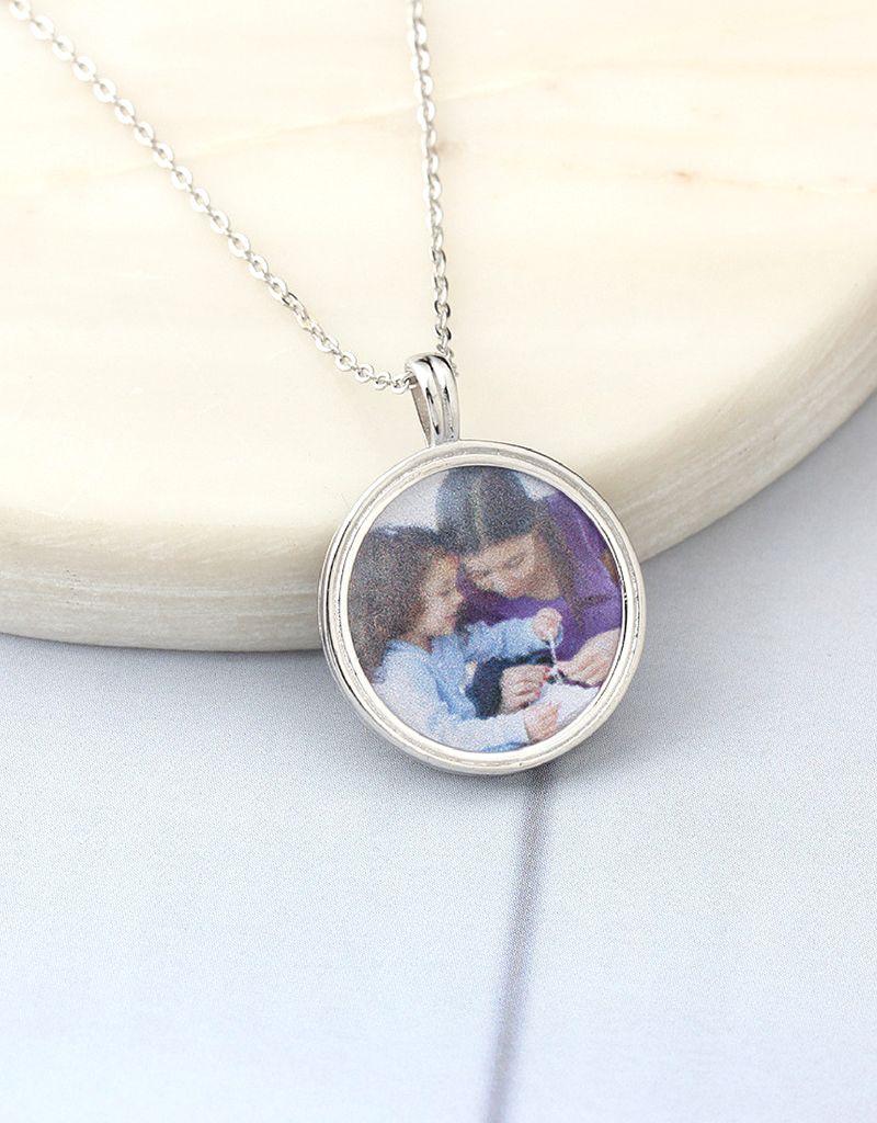 KAYA sieraden Zilveren ketting met foto 'circle of love'