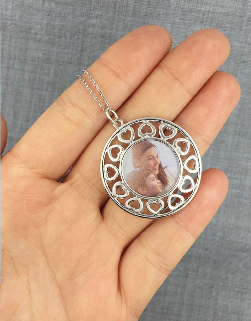 KAYA sieraden Zilveren ketting met foto 'hearts'