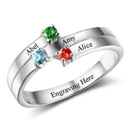 Zilveren ring met geboortestenen