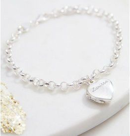 Zilveren  armband 'medaillon'