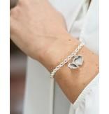Zilveren jasseron armband 'medaillon'
