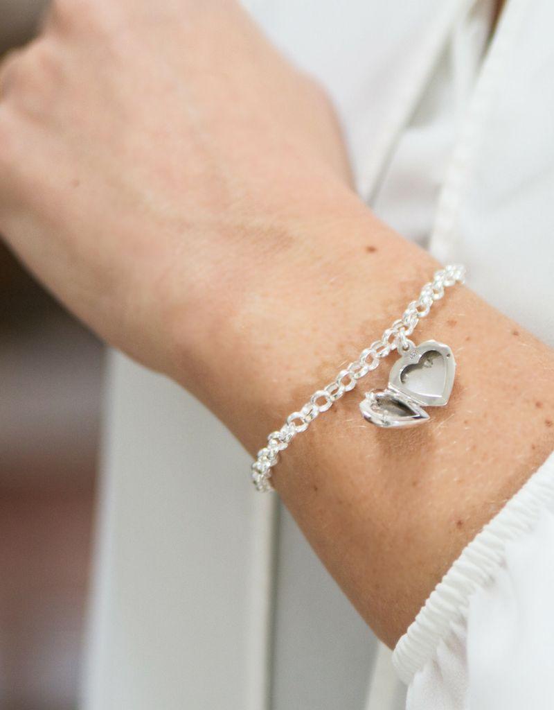 KAYA sieraden Zilveren jasseron armband 'medaillon'