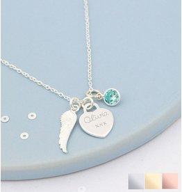 KAYA sieraden Silver Necklace '' Tree of Life '& Birth Crystal - Copy