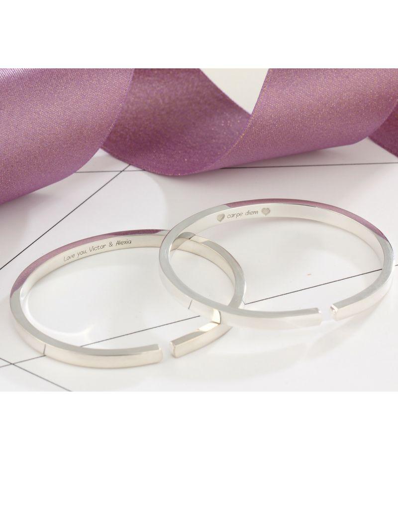 Zilveren dikke cuff (gravure buitenkant & binnenkant mogelijk)