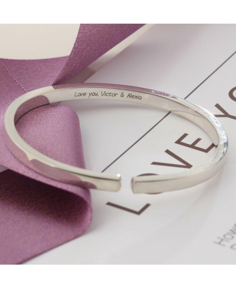 KAYA sieraden Zilveren dikke cuff (gravure buitenkant & binnenkant mogelijk)