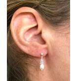 """Silver Pearl Earrings """"Little Diva"""""""