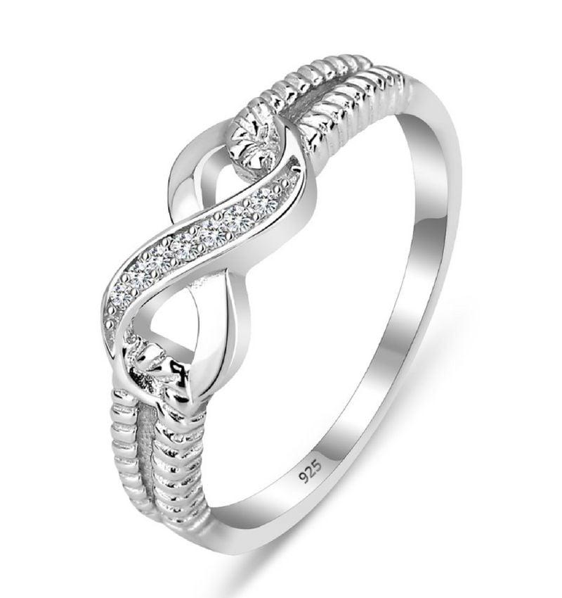 KAYA sieraden Zilveren ring 'Endless Love' met swarovski stenen