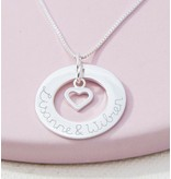 KAYA sieraden Silver Necklace 'Handwriting' with Pareltje - Copy