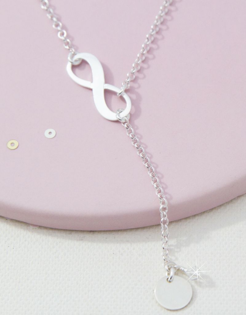 Infinity Necklace with Birthstone and Initial