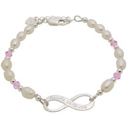 KAYA sieraden Zilveren Parelarmband 'Infinity'