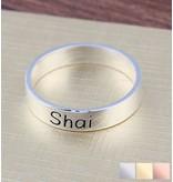 Zilveren ring met gravure