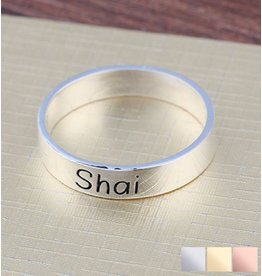 KAYA sieraden Silver ring with initial - Copy - Copy - Copy