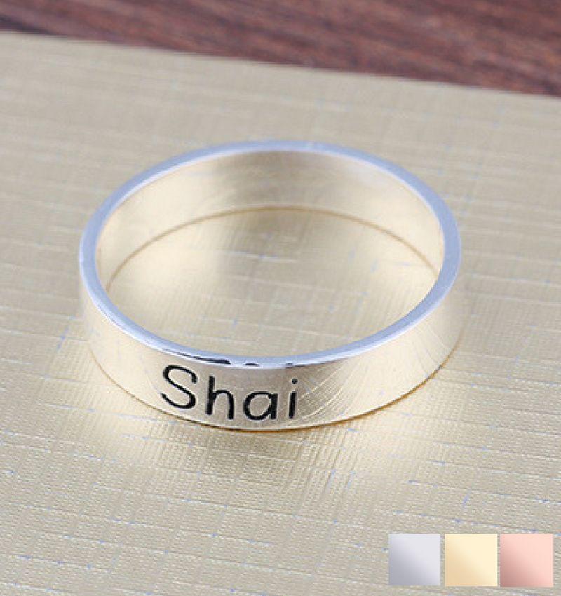 KAYA sieraden Zilveren ring met gravure