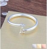 Gepersonaliseerde zilveren ring 'swarovski steen'