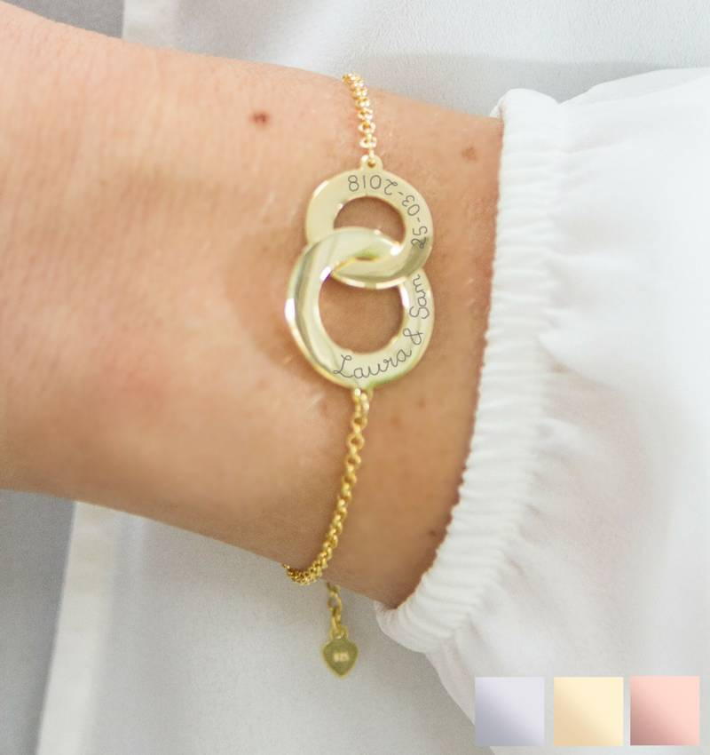 KAYA sieraden Gepersonaliseerde armband 'Verstrengeld'
