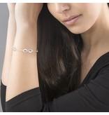 KAYA sieraden Gepersonaliseerde zilveren damesarmband 'Infinity' met vier tekens
