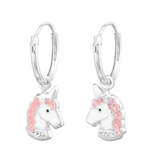 KAYA sieraden Zilveren creolen 'Unicorn'