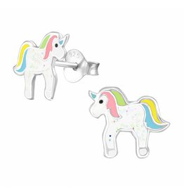 KAYA sieraden Silver earrings kids 'little unicorn' - Copy - Copy
