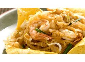 Pad Thai nudler stegt i Egg Wraps