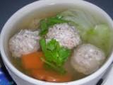 Svinekød Ball Soup (Gaeng Jued)