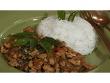 Thai basil chicken ( Krapao Gai ) ผัดกะเพราะไก่