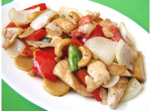"Rør stegt kylling med cashew ""Gai Pad med Ma-Maung"""
