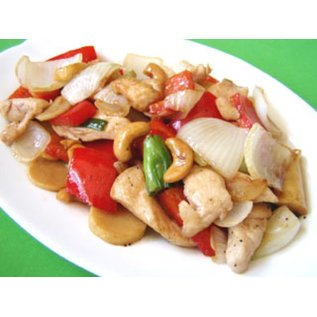 """Stir fried chicken with cashew """"Gai Pad With Ma-Maung"""""""