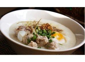 Schweinefleisch Congee