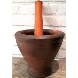 Lao Style Mortar and Pestle Set - L