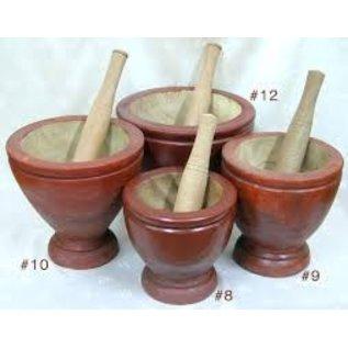 Wooden mortar & pestile 20 cm