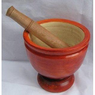 Wooden mortar & pestile 30 cm