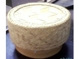 Ny Thai Sticky Rice Komfur Steamer Bamboo Basket For Electric Rice Komfur Pot 1,8 Ltr. - Kopi