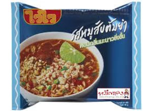 WAI WAI Varkensgehakt Tom Yum Instant Noodle 60 gr.