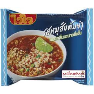 WAI WAI Minced Pork Tom Yum Instant Noodle 60 gr.