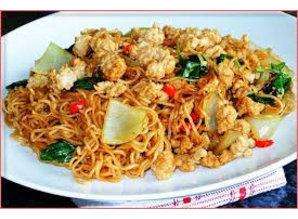 WAI WAI Hakket svinekød Tom Yum Øjeblikkelig Noodle 60 gr.