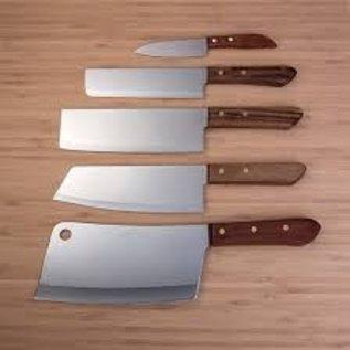 KIWI Thai Cook Knife Rectangular Blade #17cm