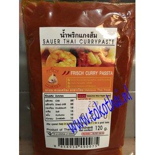 Sour Thai curry pasta